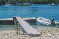 Gan, Faydhoo - dingy dock